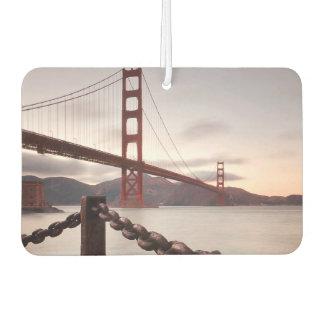 Golden Gate Bridge against mountains Car Air Freshener