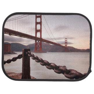 Golden Gate Bridge against mountains Car Mat