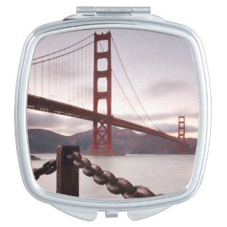 Golden Gate Bridge against mountains Mirrors For Makeup