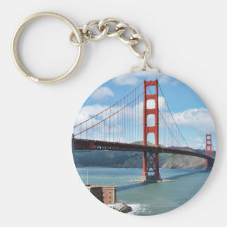 Golden Gate Bridge And Fort Point In San Francisco Basic Round Button Key Ring