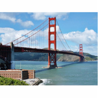 Golden Gate Bridge And Fort Point In San Francisco Standing Photo Sculpture