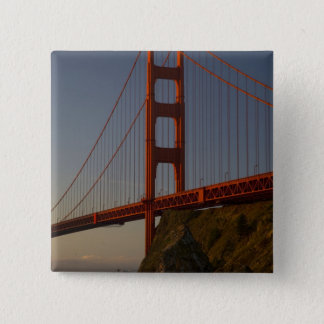 Golden Gate Bridge and San Francisco 15 Cm Square Badge