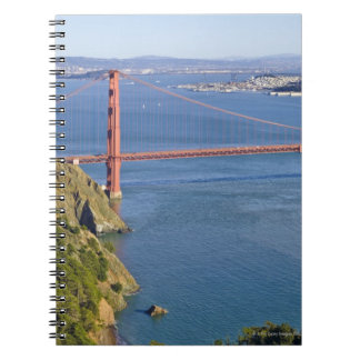 Golden Gate Bridge and San Francisco. 2 Notebook