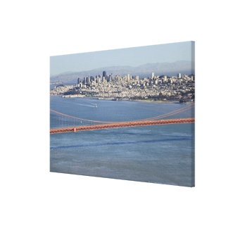 Golden Gate Bridge and San Francisco. 3 Canvas Print