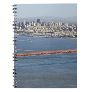 Golden Gate Bridge and San Francisco. 3 Notebooks