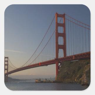 Golden Gate Bridge and San Francisco 3 Square Sticker