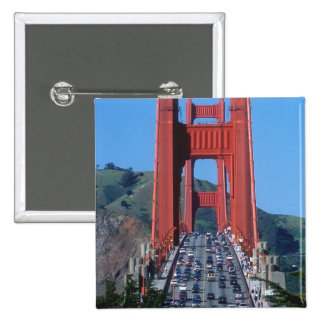 Golden Gate bridge and San Francisco Bay 15 Cm Square Badge