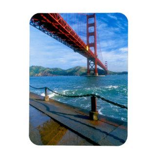 Golden Gate bridge and San Francisco Bay 2 Rectangular Photo Magnet
