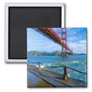 Golden Gate bridge and San Francisco Bay 2 Square Magnet
