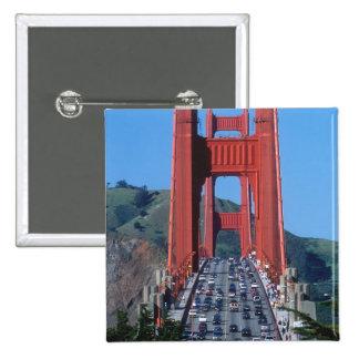 Golden Gate bridge and San Francisco Bay 15 Cm Square Badge
