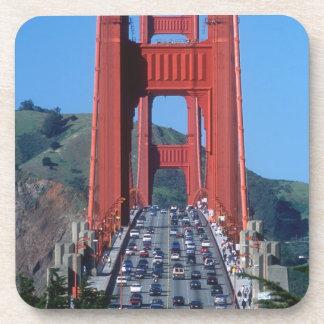 Golden Gate bridge and San Francisco Bay Drink Coasters