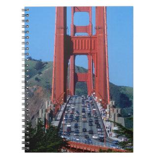 Golden Gate bridge and San Francisco Bay Spiral Notebook