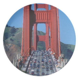 Golden Gate bridge and San Francisco Bay Plate