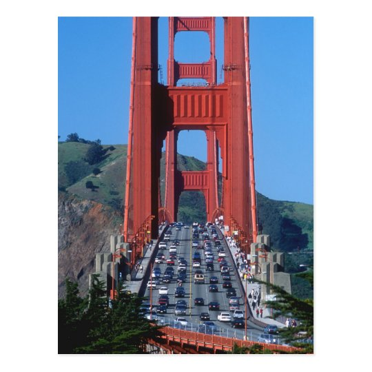 Golden Gate bridge and San Francisco Bay Postcard
