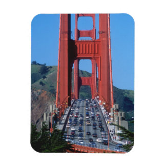 Golden Gate bridge and San Francisco Bay Rectangular Photo Magnet