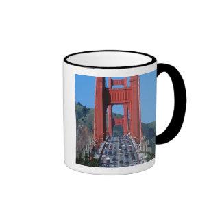 Golden Gate bridge and San Francisco Bay Ringer Mug