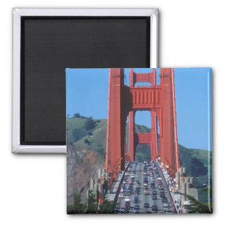 Golden Gate bridge and San Francisco Bay Square Magnet