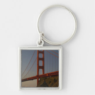 Golden Gate Bridge and San Francisco Silver-Colored Square Key Ring