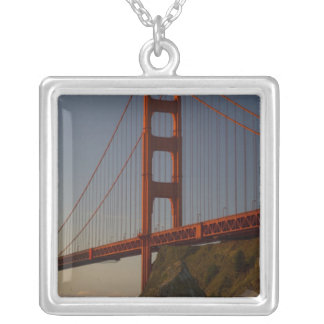 Golden Gate Bridge and San Francisco Silver Plated Necklace