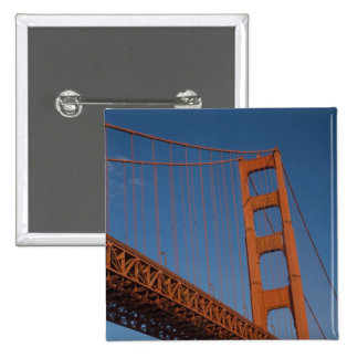 Golden Gate Bridge as viewed from Fort Point 15 Cm Square Badge