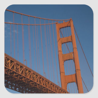 Golden Gate Bridge as viewed from Fort Point Square Stickers