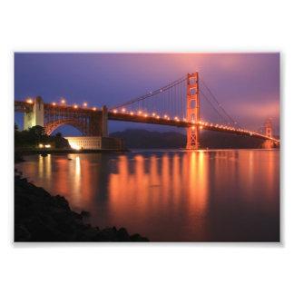 Golden Gate Bridge at Night Photo Print