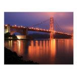 Golden Gate Bridge at Night Postcard