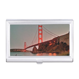 Golden Gate Bridge at Sun Down Business Card Holder