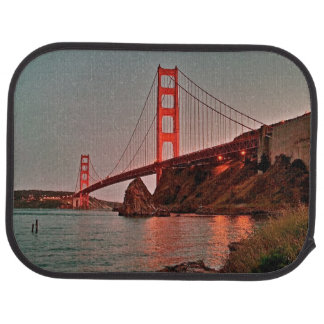 Golden Gate Bridge at Sun Down Car Mat