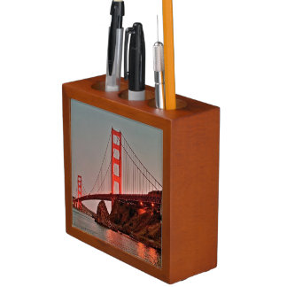 Golden Gate Bridge at Sun Down Desk Organiser