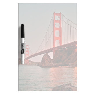 Golden Gate Bridge at Sun Down Dry Erase Board