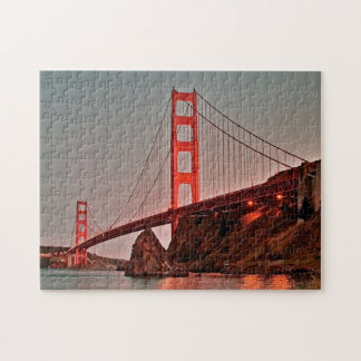 Golden Gate Bridge at Sun Down Jigsaw Puzzle