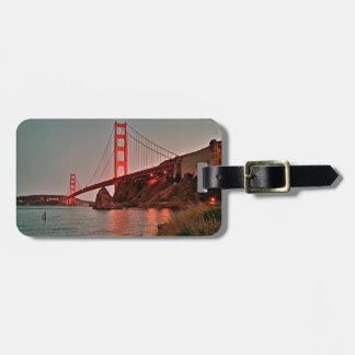 Golden Gate Bridge at Sun Down Luggage Tag
