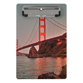 Golden Gate Bridge at Sun Down Mini Clipboard