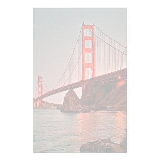 Golden Gate Bridge at Sun Down Stationery