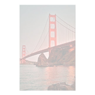 Golden Gate Bridge at Sun Down Stationery Paper