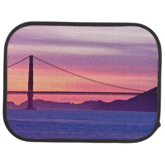 Golden Gate Bridge at Sunset Car Mat