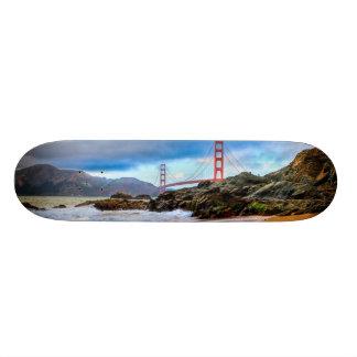 Golden Gate Bridge at sunset Custom Skateboard