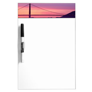 Golden Gate Bridge at Sunset Dry Erase Board