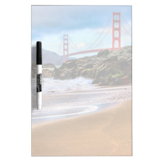 Golden Gate Bridge at sunset Dry Erase Board