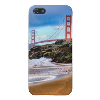 Golden Gate Bridge at sunset iPhone 5/5S Covers