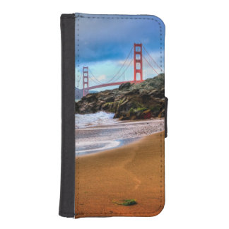 Golden Gate Bridge at sunset iPhone SE/5/5s Wallet Case
