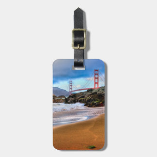 Golden Gate Bridge at sunset Luggage Tag