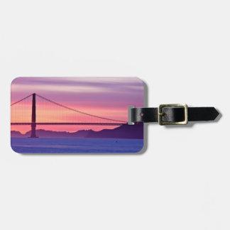 Golden Gate Bridge at Sunset Luggage Tag