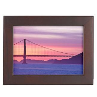 Golden Gate Bridge at Sunset Memory Box