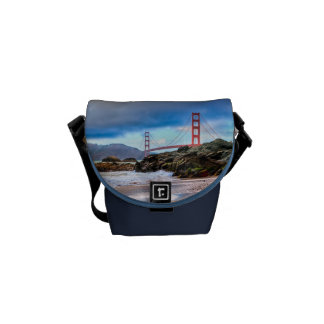 Golden Gate Bridge at sunset Messenger Bags