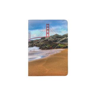 Golden Gate Bridge at sunset Passport Holder