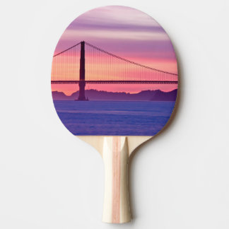 Golden Gate Bridge at Sunset Ping Pong Paddle