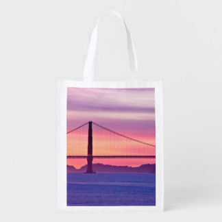 Golden Gate Bridge at Sunset Reusable Grocery Bag