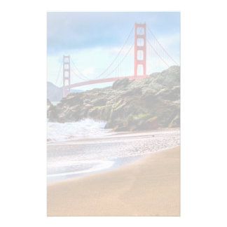 Golden Gate Bridge at sunset Stationery